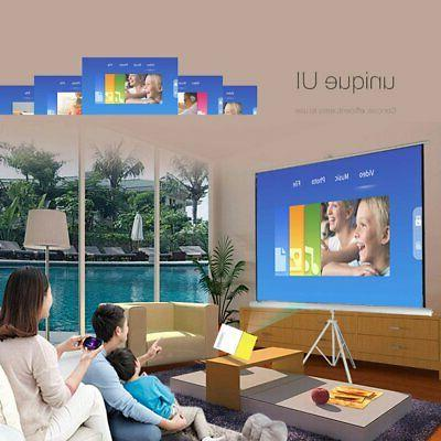 4K HD 1080P LED 3D Home Theater Projector Portable