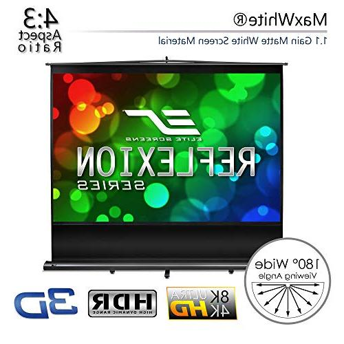 Elite 100-INCH Manual Up Projector Movie 4K 3D Ready,