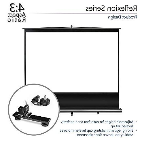 Elite 100-INCH 4:3, Manual Pull Home Theater 4K HD Ready,