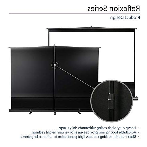 Elite 100-INCH Manual Pull Up Home Theater 4K Ultra Ready,