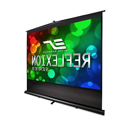 Elite Screens Reflexion Series, 100-INCH 4:3, Manual Pull Up