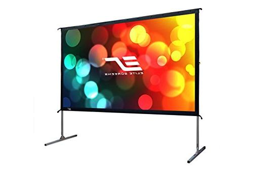 """Elite Screens 2, inch Projector Screen with 16:9, 4K HD Fast Folding Portable 100"""" Foldable Snap"""