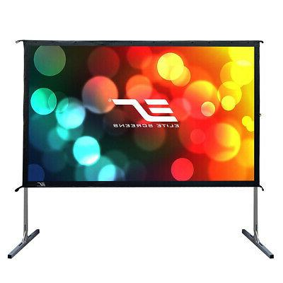 """Elite Screens Yard Projector Screen Stand 16:9, 4K HD Portable Cinema 100"""" Indoor Foldable Easy Snap Projection"""
