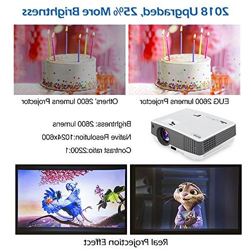 HD Gaming Projector Multimedia LCD Entertainment USB TV Support Home Theater Party