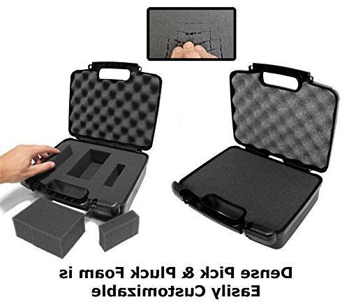 STURDY Pico Projector Carrying Hard with Diced Foam P5 P300 , P700 P4X IVATION , Brookstone Portable