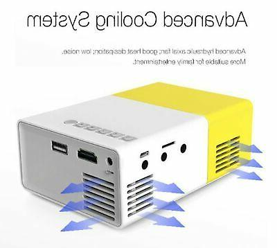 Deeplee A1 LED LCD Mini Projector with Input Inte