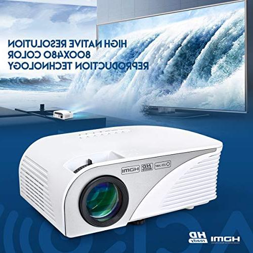 """Mcwell HD LED Home Theater Multimedia Outdoor 20""""-150"""" VGA USB SD Audio Smart Phone Tablet Computers White Warranty"""