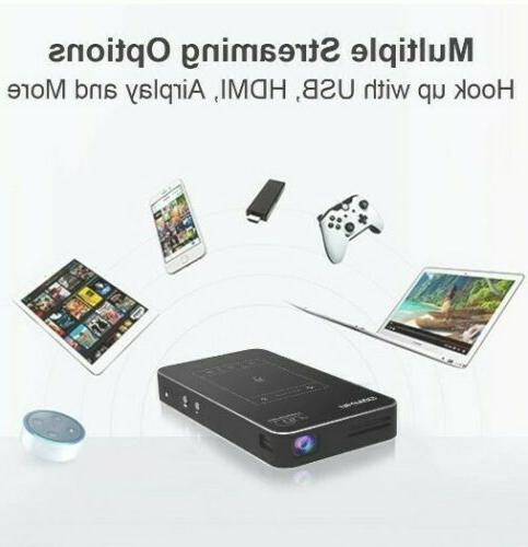 AKASO Mini Projector 1080P Portable With Android 7.1