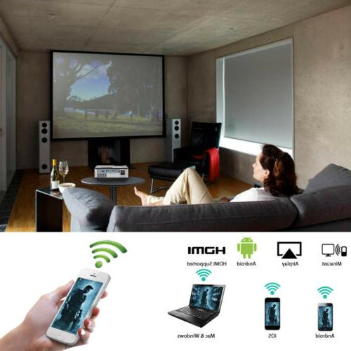 EUG LED Projector Theater Baseball Game HDMI USB