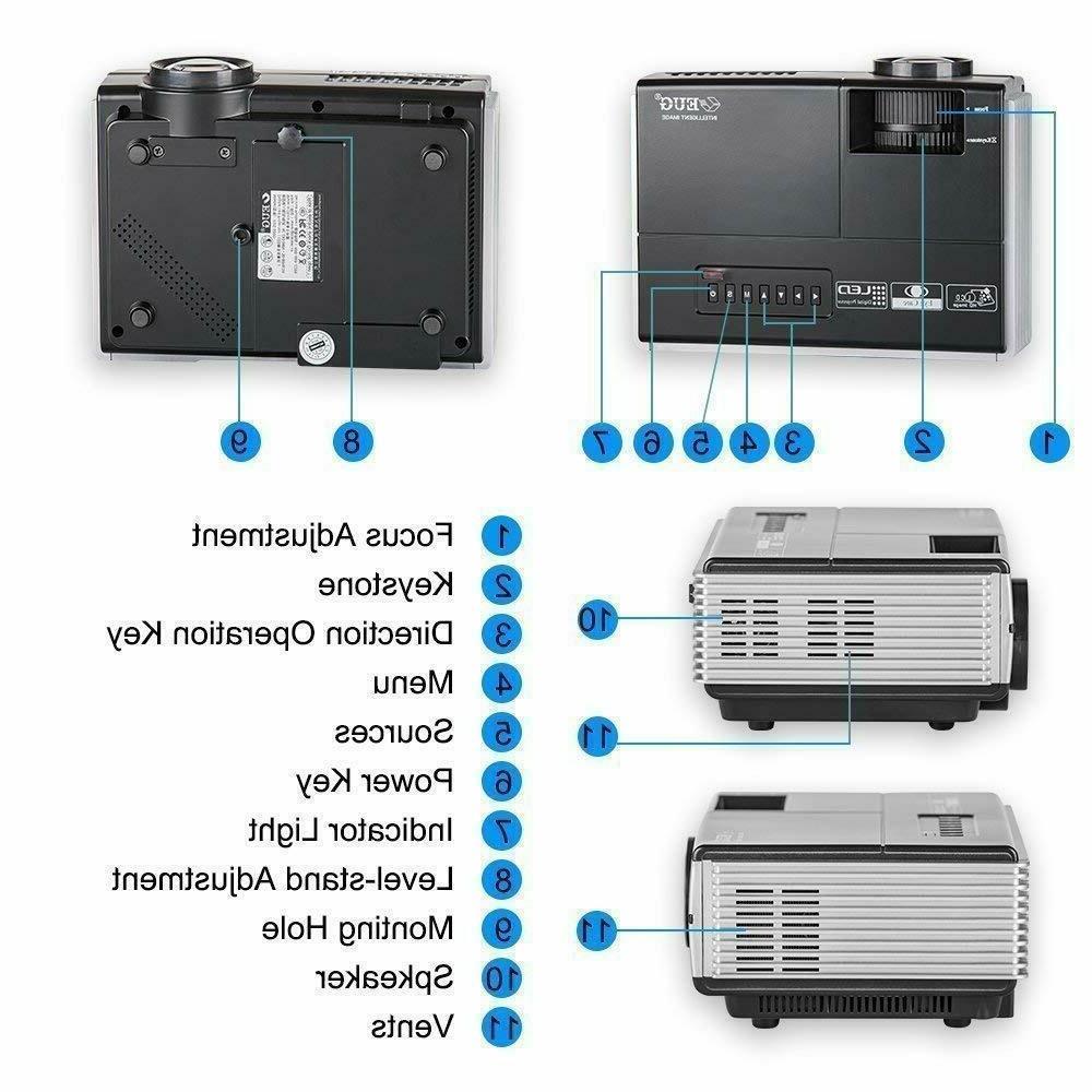 Portable Smart Mini Projector Home Theater