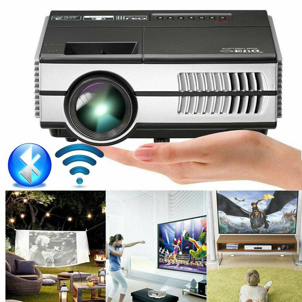 android 2800lm mini led projector home theater