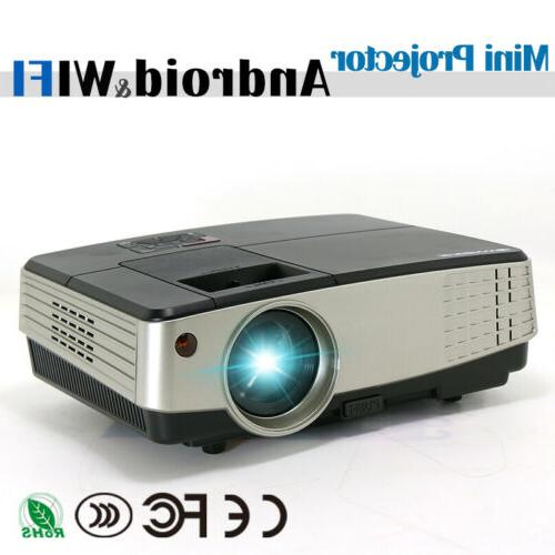 android wifi smart led projector wireless lcd