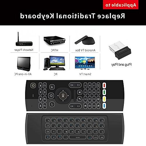 Docooler 2.4G Backlit Air Mouse Keyboard 6-Axis Somatosensory Remote Motion Sensing Game IR Buttons Mini Smart TV TV Box Projector