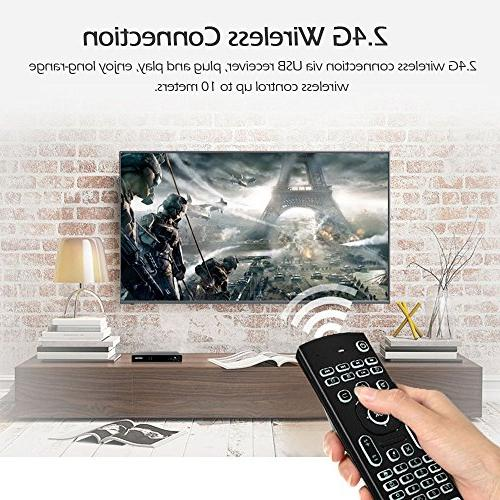 Docooler 2.4G Air Mouse Wireless Keyboard 6-Axis Somatosensory Remote Control Sensing Game IR Learning Buttons