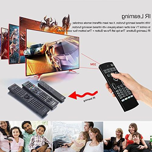 Docooler 2.4G Backlit Mouse Wireless Keyboard 6-Axis Somatosensory Remote Control Motion Sensing Buttons for Box Projector