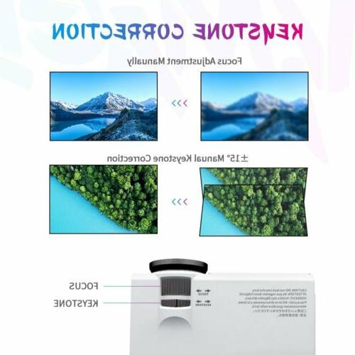 "VIVIMAGE LED 170"" Display Home Video Projector HDMI USB SD"