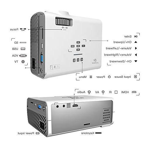 ViviMage Projector, Lux Supported, Cinema Indoor/Outdoor TV