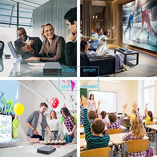 Lumens DLP Full 1080P with WiFi Bluetooth Projector Home Office