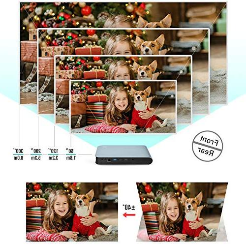 WOWOTO 3D DLP HD 1080P WiFi Bluetooth AirPlay Android Projector