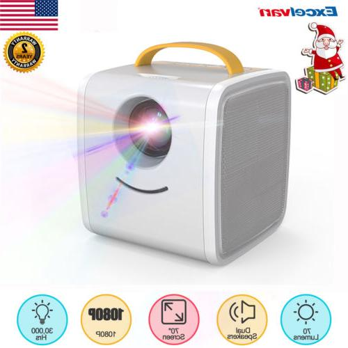 childrens mini 1080p projector home theater multimedia