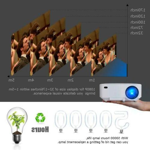DBPOWER Mini Display 1080P HD LED Movie White