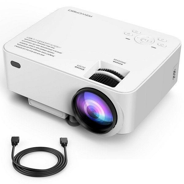 dbpower t20 1500 lumen lcd mini projector
