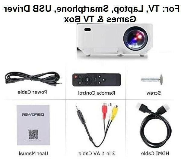 DBPOWER Mini Projector, Multimedia Home Theater Video Projector