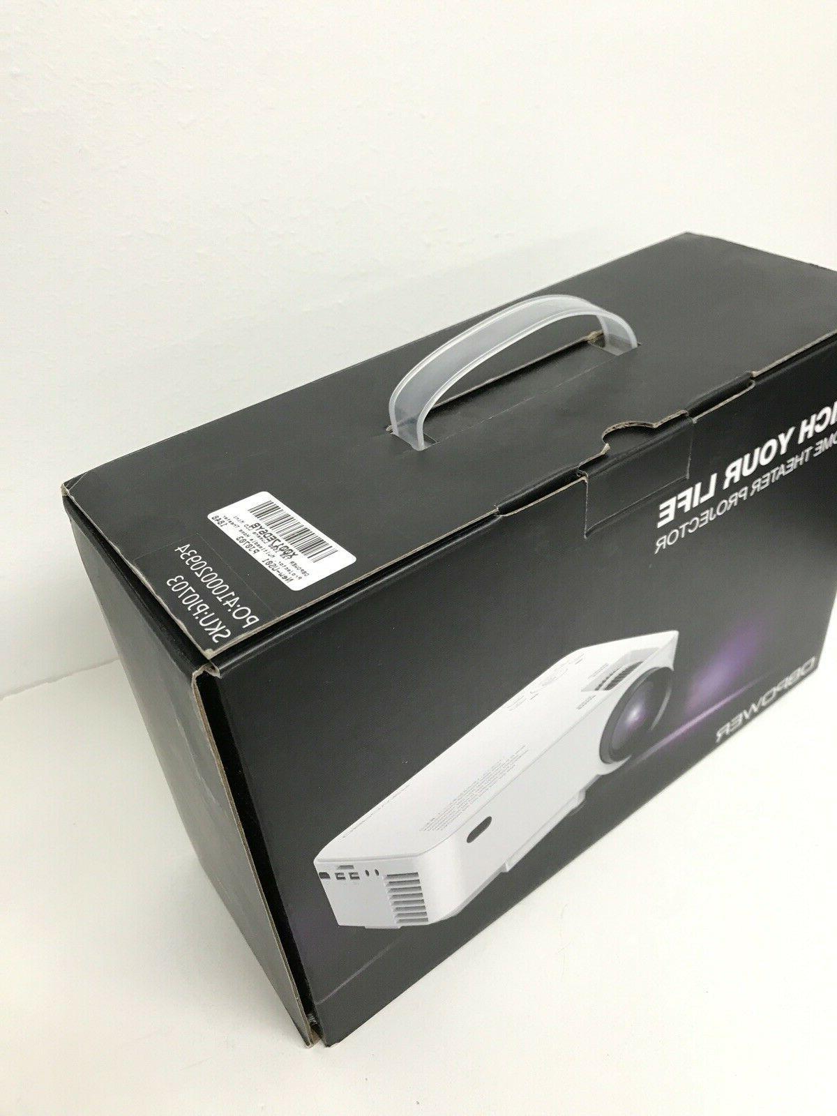 DBPOWER T20 Mini Projector, Multimedia Video Projector NEW