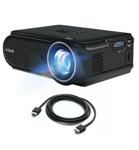 DeepLee DP90 Mini Projector 1600 Lumens Phone Flash NEW