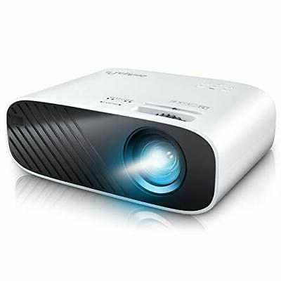 ELEPHAS 2020 Mini Movie Projector, 5000 LUX Full HD 1080P Vi