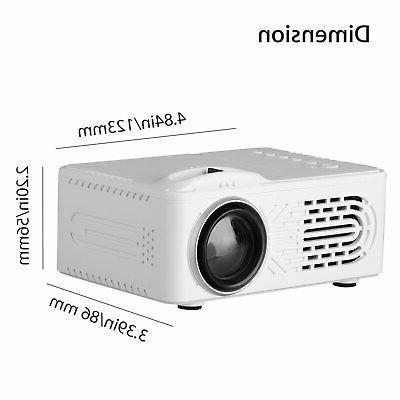 Full HD Home Mini Projector 3D LED Cinema Multimedia TFT LCD