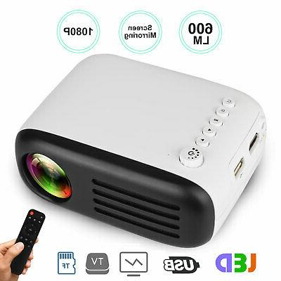 Portable LED Projector Home Cinema Theater HDMI SD
