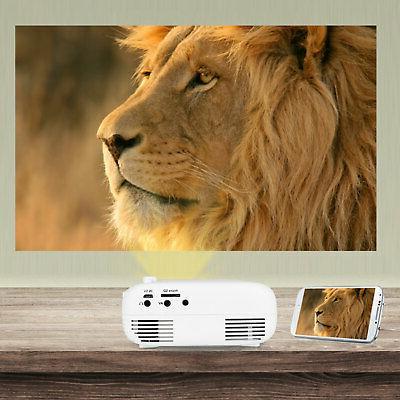 1080p Full Portable Projector Home Cinema Theater HDMI SD