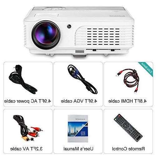 EUG Portable Multimedia LED with HDMI AV Party