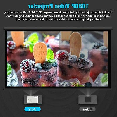 Portable Full LED Smart Home Cinema AV USB
