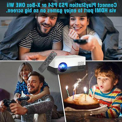 1080p Full HD LED Portable Smart Home Cinema AV USB