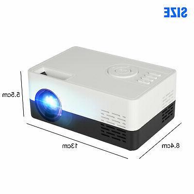 1080p Full LED Portable Mini Projector Home AV USB