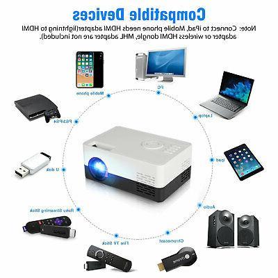 1080p Full Portable Mini Home Theater Cinema HDMI AV USB