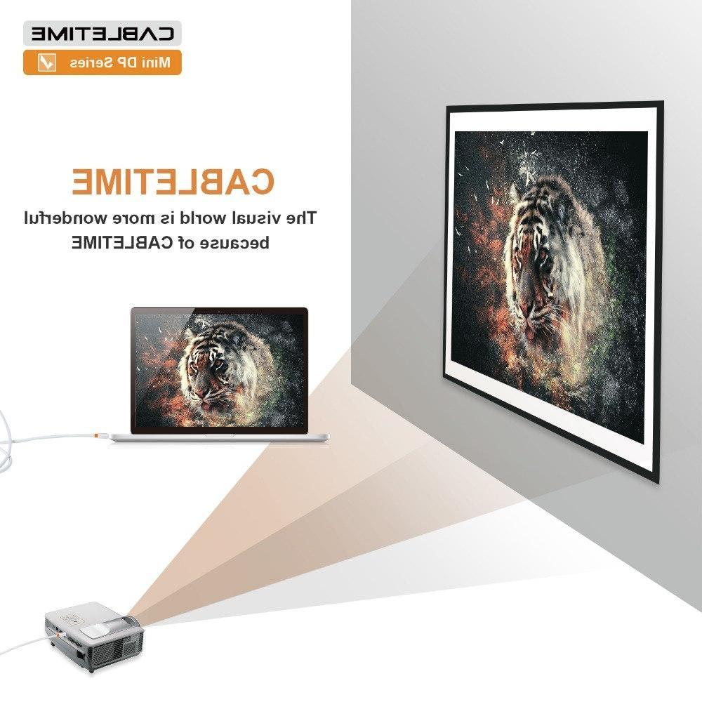 Cabletime DisplayPort Cable Display Cable dp Macbook/Mac <font><b>Lenovo</b></font> display N021