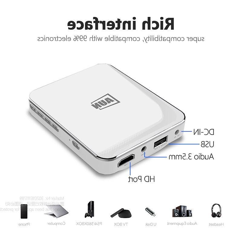 AUN <font><b>MINI</b></font> Android/IOS <font><b>Phone</b></font> Multimedia Portable for Home Cinema,3D beamer