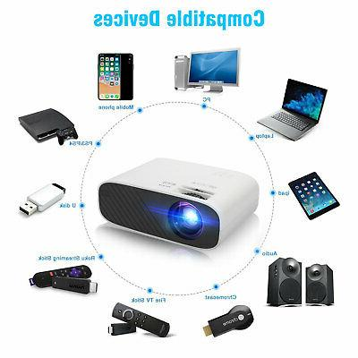 Full HD 2500 Lumens Portable Bluetooth WiFi Projector
