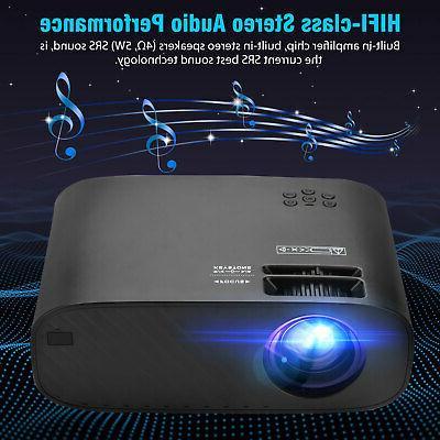 Full HD 1080P Lumens Portable Mini Wireless Bluetooth WiFi
