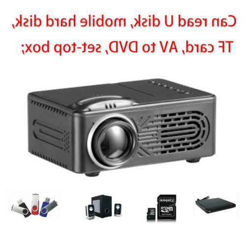 Mini Projector Multimedia Theater USB TF HDMI TV AV