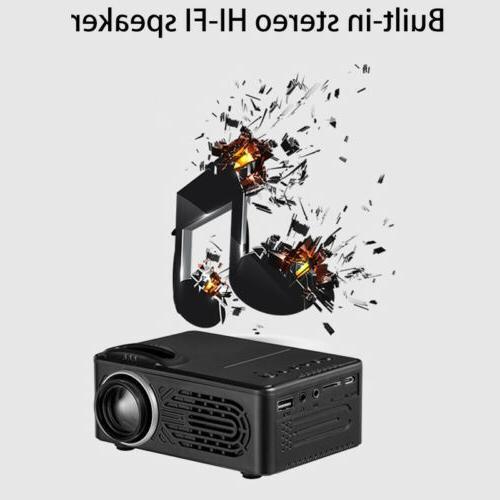 Full 1080P Mini Projector Multimedia Theater USB HDMI TV