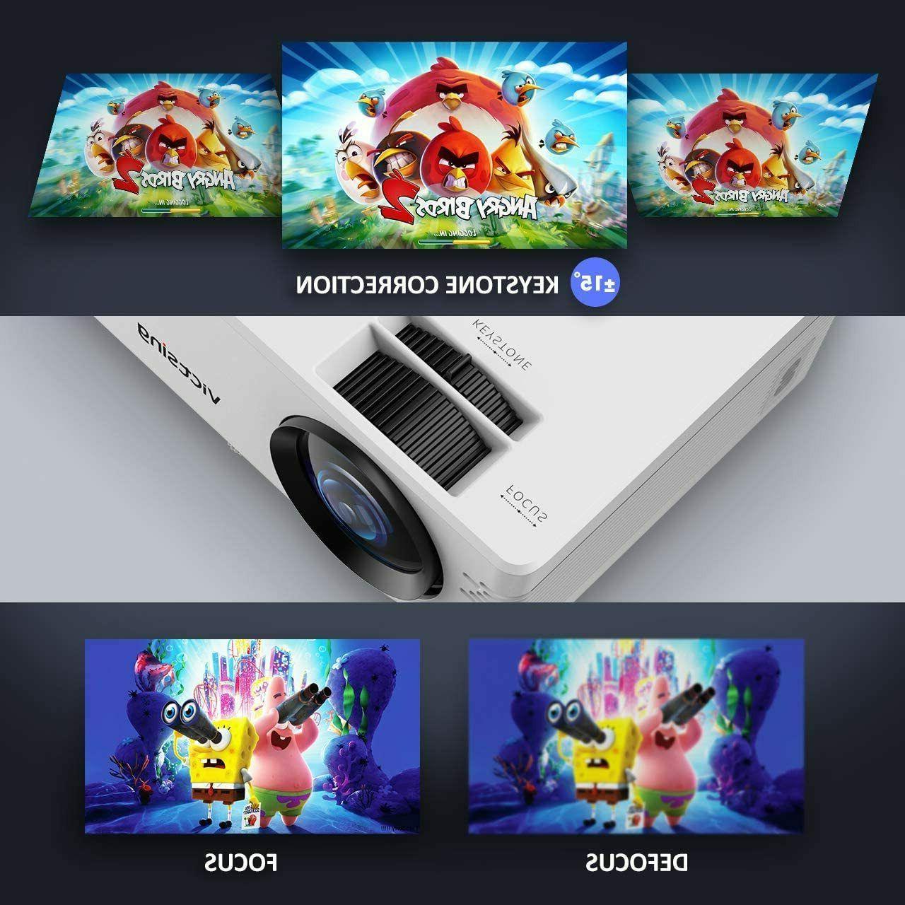 Full HD 1080P Lumens Portable Mini Wireless Bluetooth Home