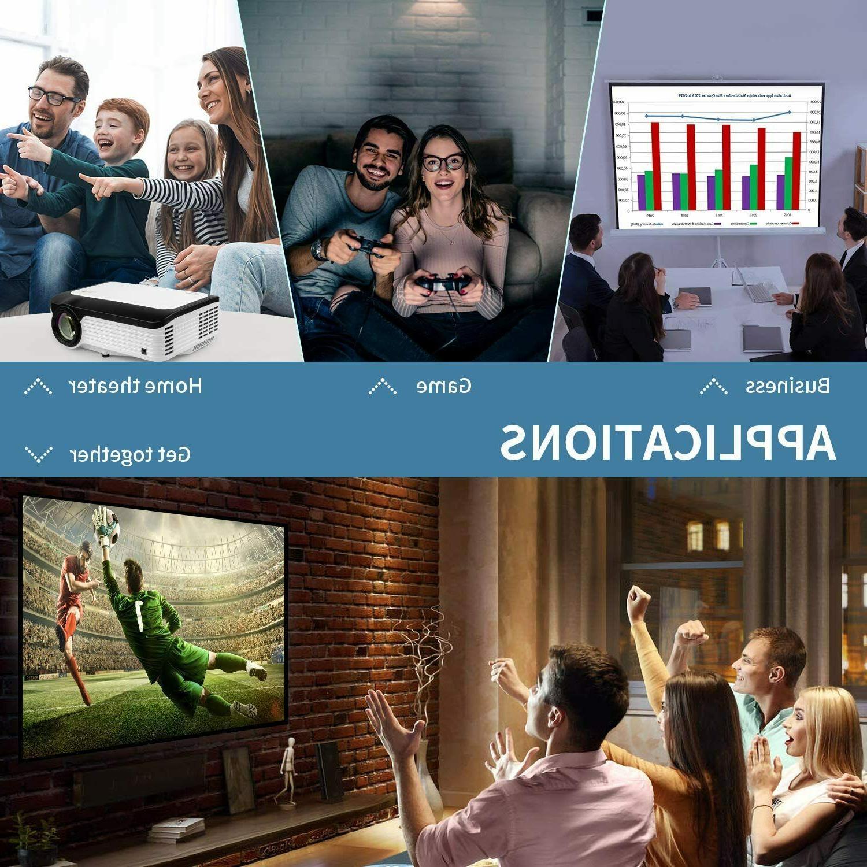 Full HD Lumens Portable Home Theater HDMI