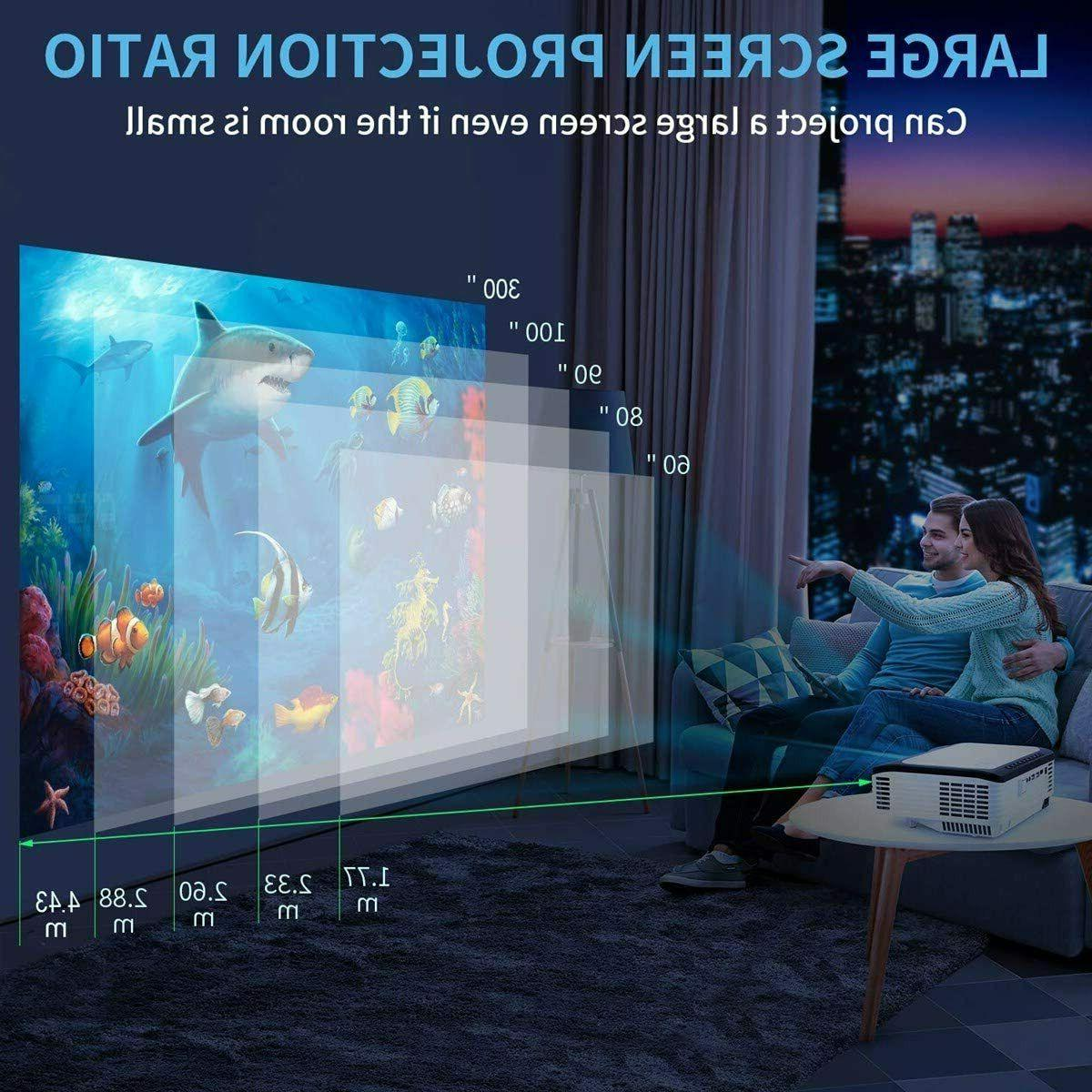 Full 6000 Lumens Theater Video HDMI