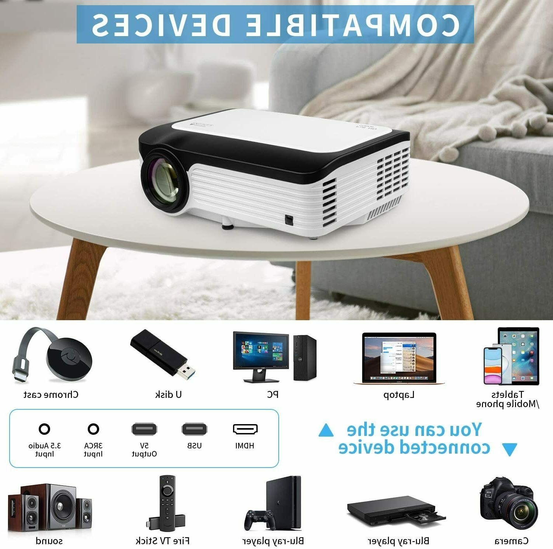 Full HD 1080P 6000 Lumens Mini Theater Video HDMI