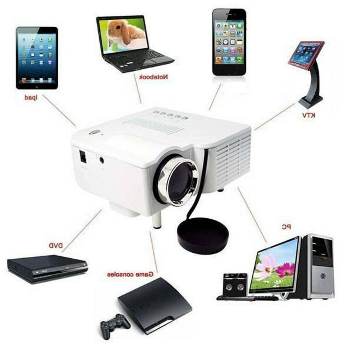 Full Home Theater Mini Multimedia Projector USB TV HDMI