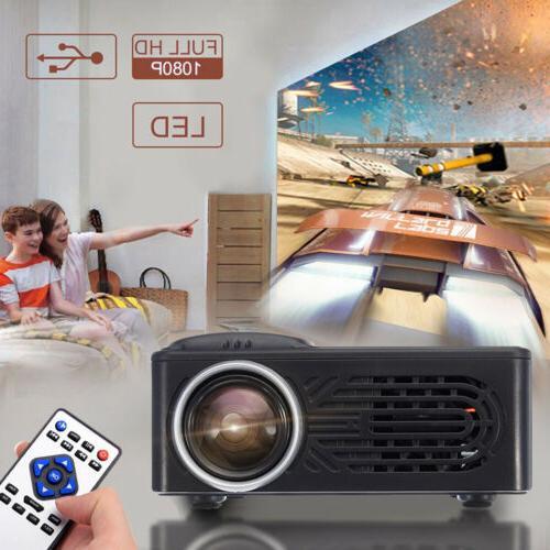 Full Mini Projector /Projector Screen w/HDMI/AV/USB